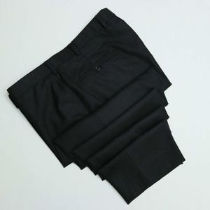 Brooks Brothers 346 Charcoal black, Flat Front